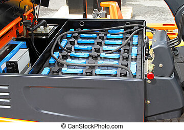 batterijen, vorkheftruck