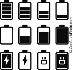 Battery Black Icons