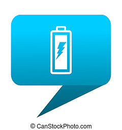 battery blue bubble icon