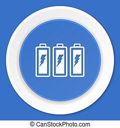battery blue flat design modern web icon