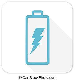 battery blue flat icon