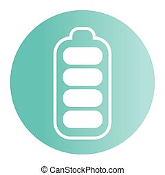 battery button icon, on white background