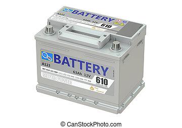 battery car, 3D rendering