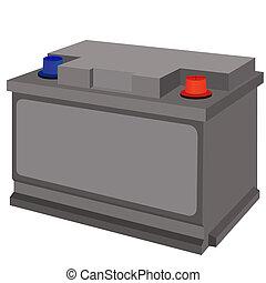 Battery - Car battery. Illustration on white background.