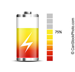 Battery charge energy power icon. Vector battery recharge design technology