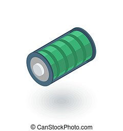 battery charge full isometric flat icon. 3d vector