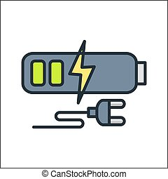 battery charge icon color