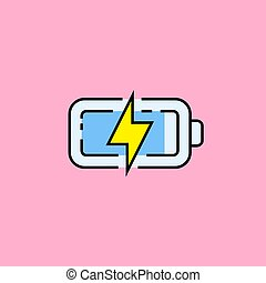 Battery charge line icon
