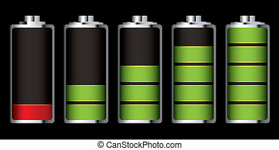 battery charge section - Battery charge showing stages of...