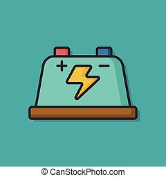 battery charge vector icon