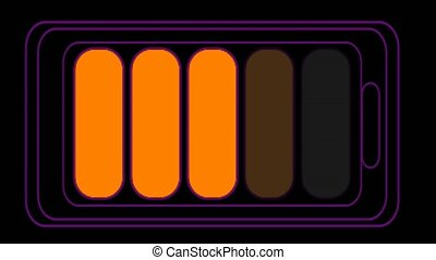 battery charger rainbow change color when time line for banner and advertise