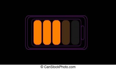 battery charger rainbow change color when time line
