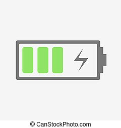 Battery charging Icon. The battery icon with a good charge.