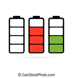 battery color vector