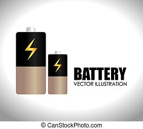 Battery design, vector illustration.