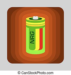 Battery energy concept background, cartoon style