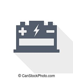 Battery flat design vector icon