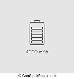 Battery flat vector icon
