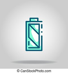 battery full icon or logo in  twotone - Logo or symbol of ...