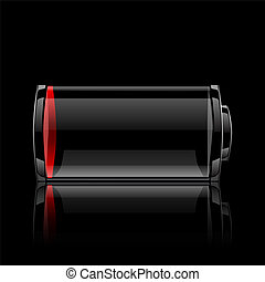 battery glossy web icon