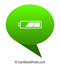 battery green bubble icon