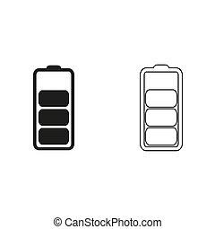 Battery - green vector icon