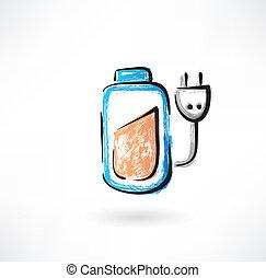 Battery grunge icon