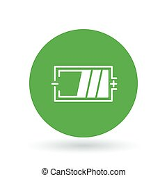 Battery icon. Battery charge sign. Battery power level symbol. Vector illustration.