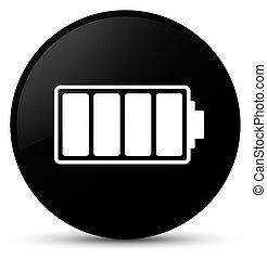 Battery icon black round button