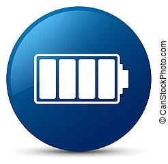 Battery icon blue round button