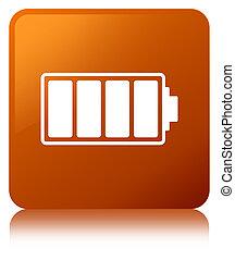 Battery icon brown square button