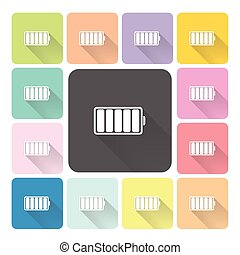 Battery Icon color set vector illustration