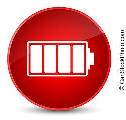 Battery icon elegant red round button