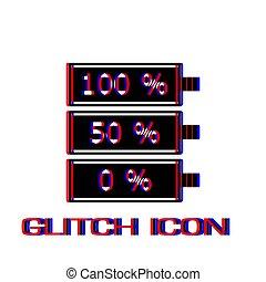 Battery icon flat