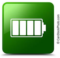 Battery icon green square button
