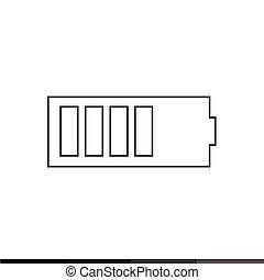 battery icon Illustration design