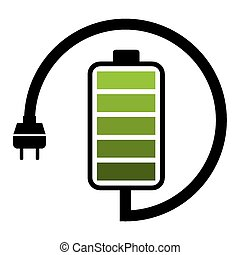 battery icon design, vector illustration eps10 graphic
