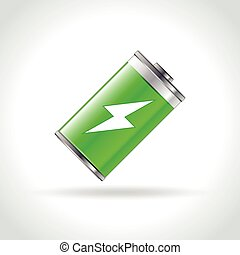 battery icon on white background