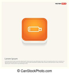 Battery icon Orange Abstract Web Button
