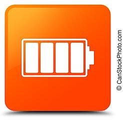 Battery icon orange square button