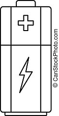 Battery icon, outline style
