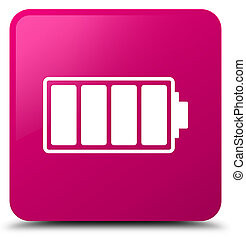 Battery icon pink square button
