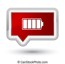 Battery icon prime red banner button
