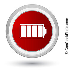 Battery icon prime red round button