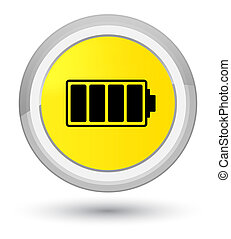 Battery icon prime yellow round button
