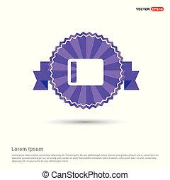 Battery Icon - Purple Ribbon banner
