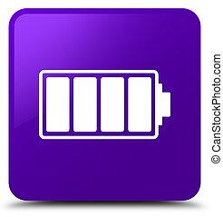 Battery icon purple square button