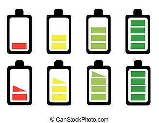 Battery icon set vector illustration