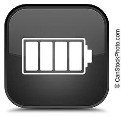 Battery icon special black square button