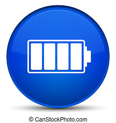 Battery icon special blue round button